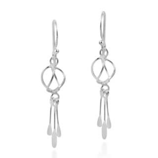 Modish Twist Tassel Style Sterling Silver Dangle Earrings (Thailand)
