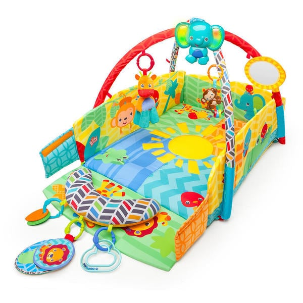Bright Starts Sunny Safari Multicolored Polyester Baby's Play Place 19188774