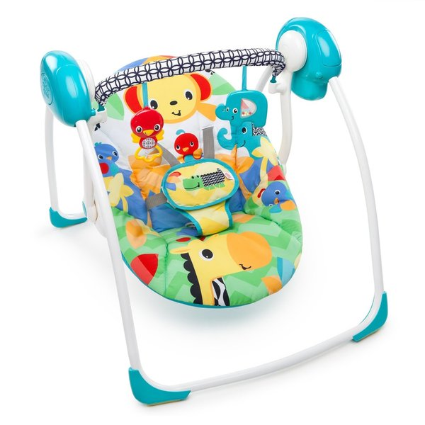 Bright Starts Safari Smiles Portable Baby Swing