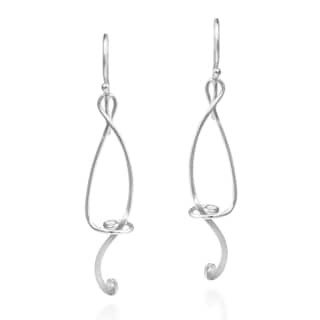 Marvelous Abstract Musical Note .925 Silver Dangle Earrings (Thailand)