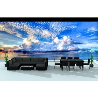 Urban Furnishing Black Series 16-piece Outdoor Dining and Sofa Sectional Patio Furniture Set