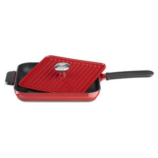 KitchenAid Empire Red Cast Iron Grill and Panini Press Cookware