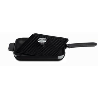 KitchenAid KCI10GPOB Onyx Black Cast Iron Grill and Panini Press Cookware