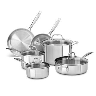 KitchenAid Stainless Steel 10-piece Tri-ply Cookware Set