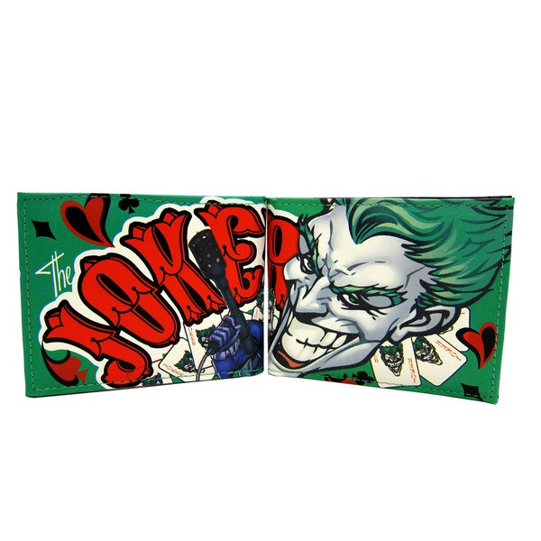 Batman Joker Green Faux-leather Bifold Wallet