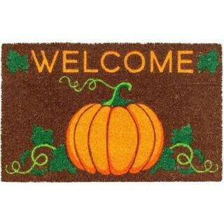 Welcome Pumpkin Non-slip Coir Doormat