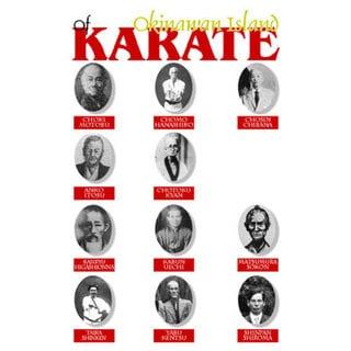 Okinawa Karate Masters Wood 11-inch x 17-inch Wall Plaque