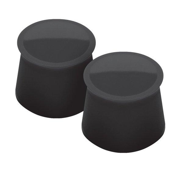 Tovolo Black Silicone Bottle Stopper Wine Cap (Set of 2)