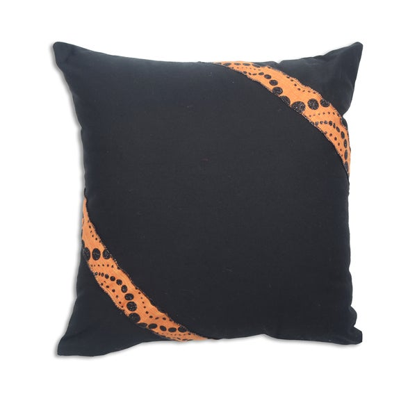 Duck Black Cotton 17-inch x 17-inch Throw Pillow