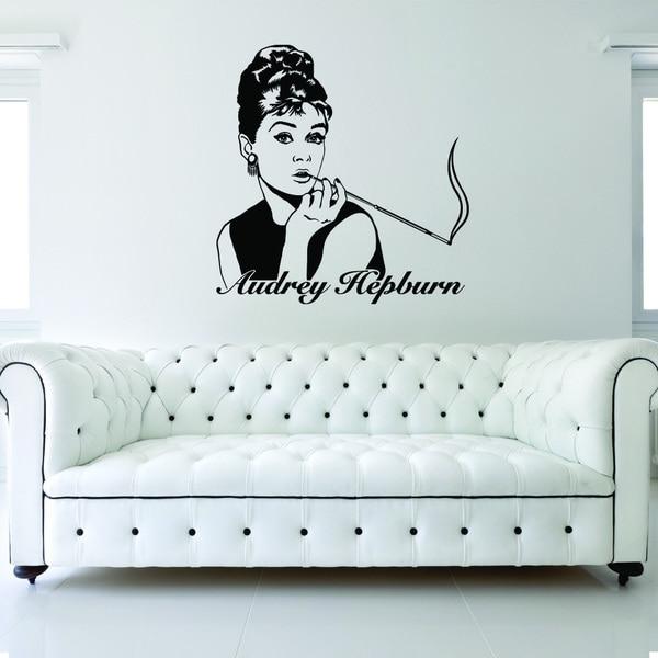 Style & Apply Audrey Hepburn Vinyl Wall Decal