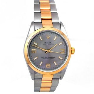Rolex Oyster Perpetual Pre-owned Gold and Stainless Steel 34mm Watch