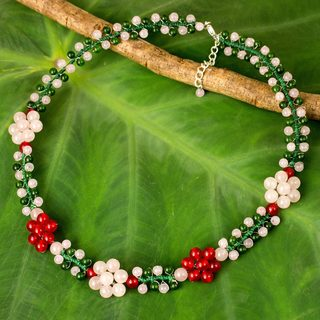 Handcrafted Stainless Steel 'Primrose' Quartz Necklace (Thailand)