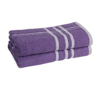 Striped Cotton 2-piece Bath Towels
