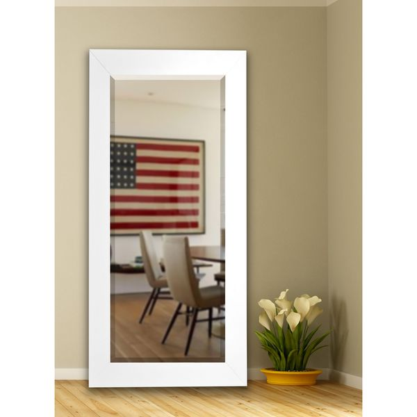 Contemporary White Wall Mirror Made in America