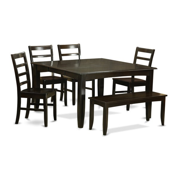 Cappucino 6 Piece Dining Room Set With Glass Top Dining Table 4