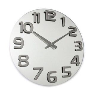 Hans Andersen Home Garricks Silvertone Glass Wall Clock