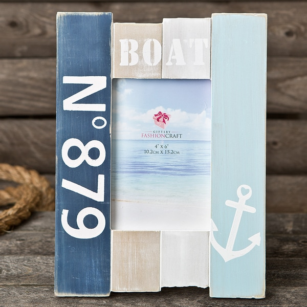 Nautical-themed Blue Wooden Picture Frame