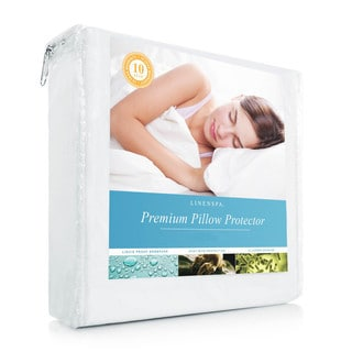 LINENSPA Premium Smooth Fabric Pillow Protector