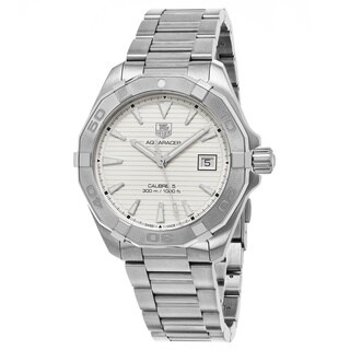 Tag Heuer Men's WAY2111.BA0928 '300 Aquaracer' Silver Dial Stainless Steel Swiss Automatic Watch