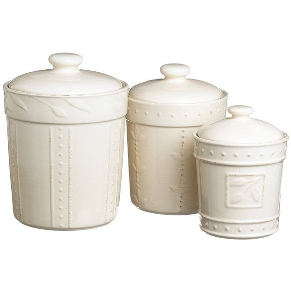 Signature Housewares Sorrento Stoneware Canisters (Set of 3)