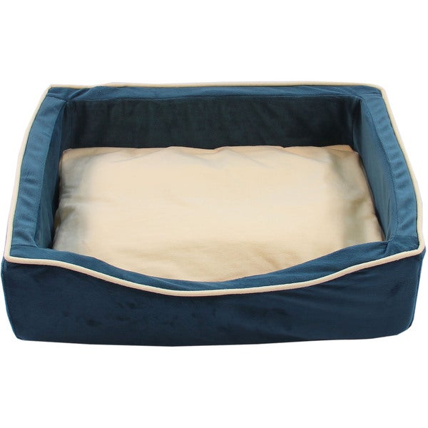 Purrrfect Life Green Velboa Soft Cat or Dog Bed