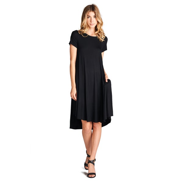 Spicy Mix Women's Saoirse Rayon Jersey Short-sleeved Mini Tunic Dress with Pockets
