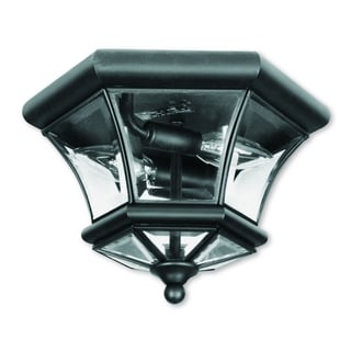 Livex Lighting Monterey/Georgetown Black 2-light Ceiling Mount Fixture