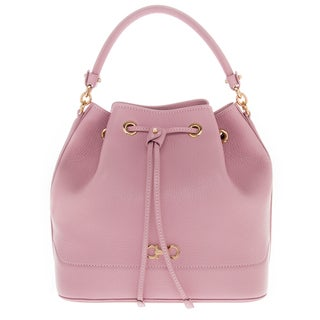 Salvatore Ferragamo Millie New Gancini Icona Soft Grained Leather Bucket Bag