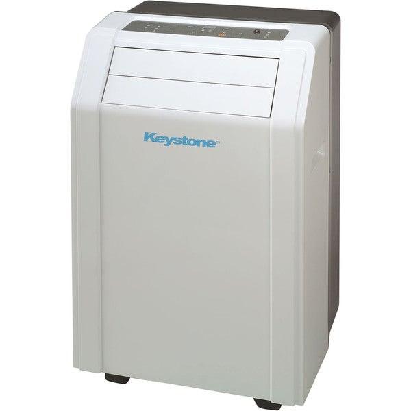 Keystone KSTAP14A 14,000-BTU 115V White Portable Air Conditioner with 'Follow Me' LCD Remote Control 19193347