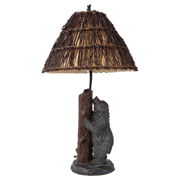 Somette Lakeside Bear with Bees 29-inch Table Lamp
