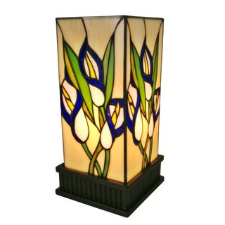 Amora Lighting AM219TL05 Tiffany-style 12-inch Floral Table Lamp