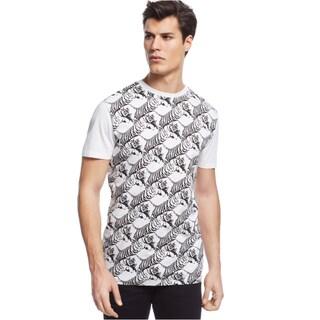 Versace Jeans Men's White Tiger Print T-shirt