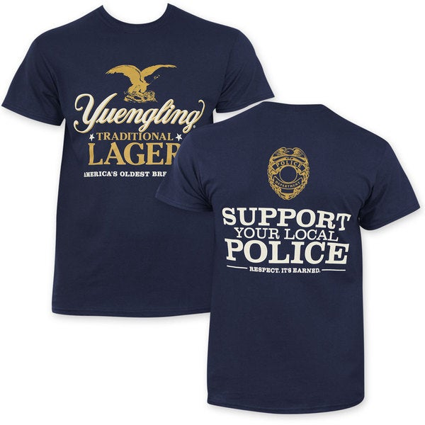 Yuengling Support Police Blue Cotton T-shirt
