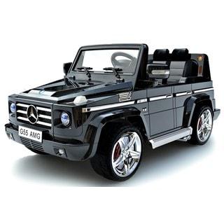 Children's Black Mercedes-Benz G55 12V Ride-on Car