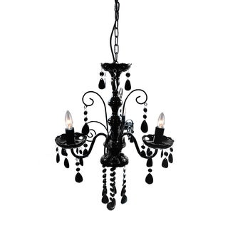 Edanna Black Acrylic 3-light 16-inch Chandelier