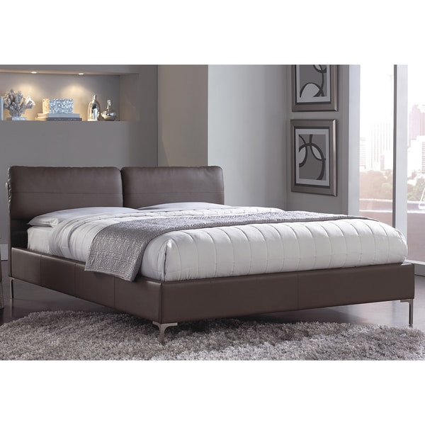 Aurora Platform Bed with Adjustable Headboard Cushions