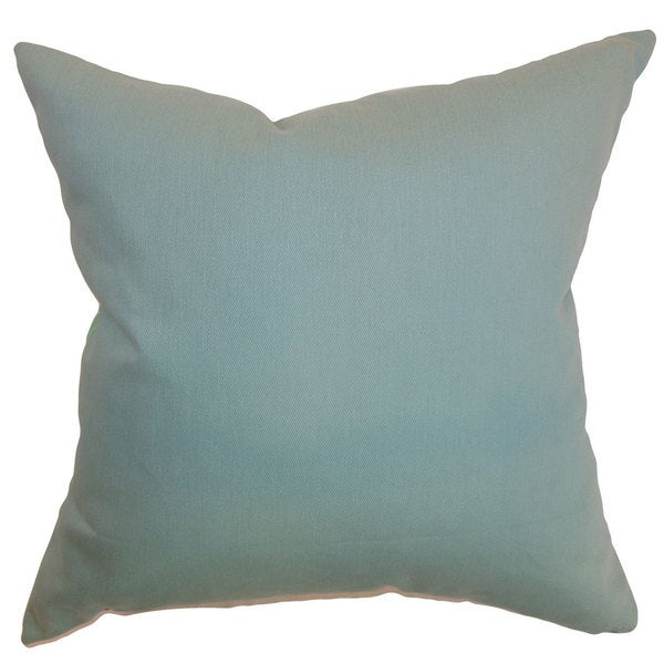 Resolute Solid Throw Pillow Cover