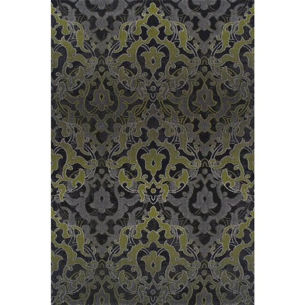 Symphony Graphite Grey Polypropylene Traditional Rug
