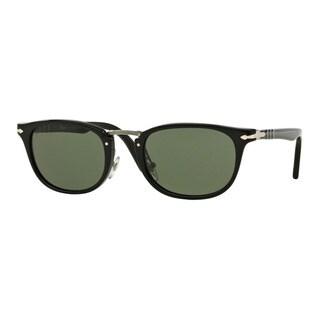 Persol Men's PO3127S 95/31 50 Black Plastic Rectangle Sunglasses