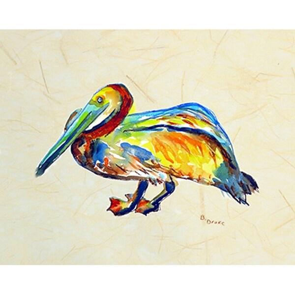 Betsy Drake Coastal Gertrude Pelican Door Mat