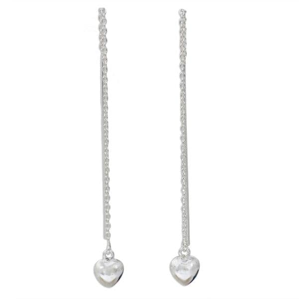 Handmade Sterling Silver 'Chain of Love' Earrings (Thailand) 19199938