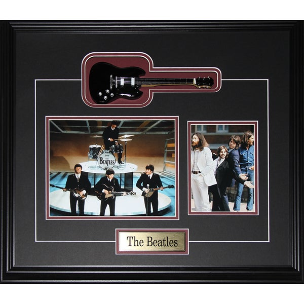 The Beatles Miniature Guitar 2-photo Frame
