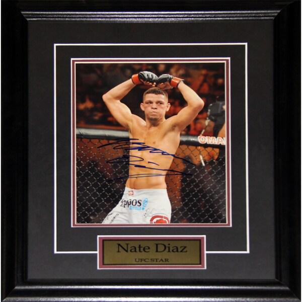 Nate Diaz UFC Signed 8x10-inch Frame