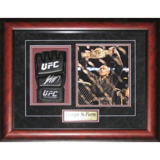 Georges St-Pierre Signed UFC Glove Frame