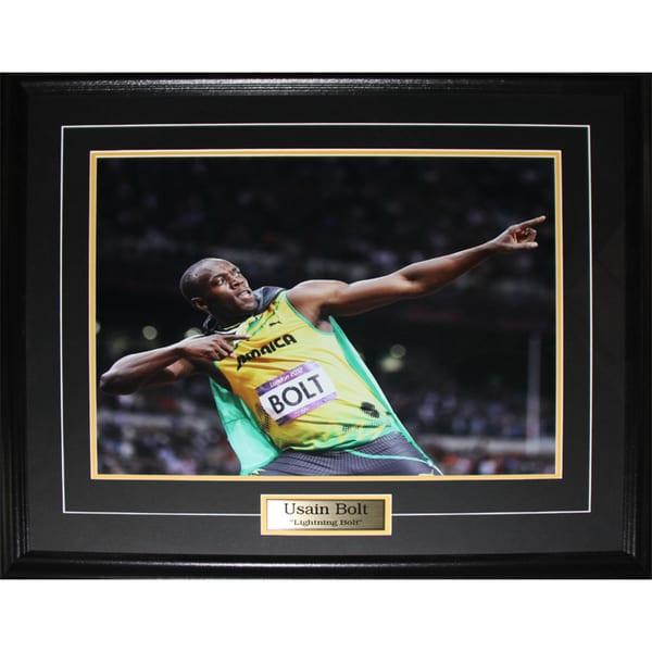 Usain Bolt Olympic Runner Pose 16x20-inch Frame