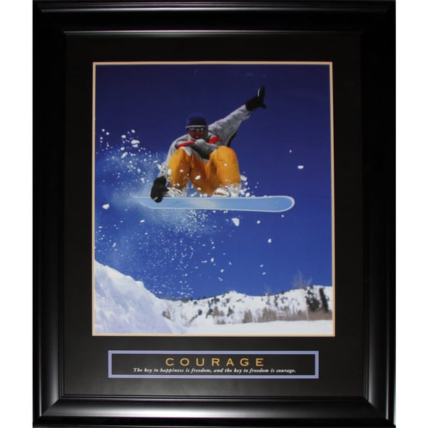 Courage Snowboarding Motivational Large Frame