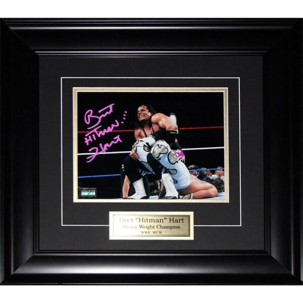 Brett Hart Wwe Wwf Signed 8x10-inch Frame