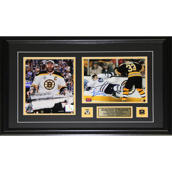 Zdeno Chara Boston Bruins Signed 2-photo Frame 19200116
