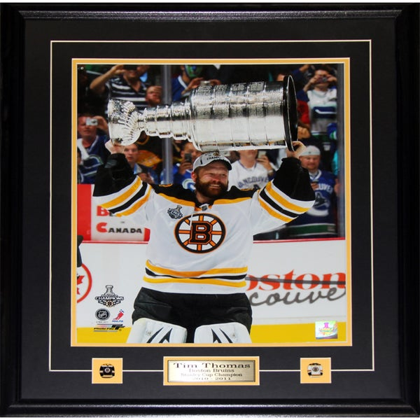 Tim Thomas Boston Bruins Stanley Cup 16x20-inch Frame 19200207