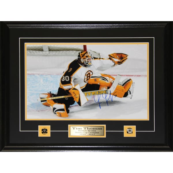 Tim Thomas Boston Bruins Signed 11x14 Frame 19200208